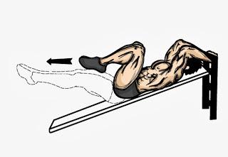 Повдигане на колене към гърди от лег или под наклон