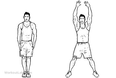 Подскоци Звезда (Jumping Jacks) - доброто кардио упражнение-2